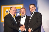 Paul O'Sullivan, DIT, sponsor of the International Sales and Marketing  Award, with award winners, Easy Fix Rubber Products