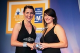 Sian Gray, Nokia, sponsor of the eMarketing Award, with award winner, Orla Flanagan, Diageo