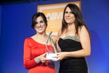 Cera Ward, Newstalk sponsor of the Advertising Campaign Award, with award winner, Roma O'Connor, McDonalds