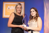Elaine Sheridan, Nokia, sponsor of the Integrated Marketing Award, with award winner, Kathleen Moore, Tesco Ireland