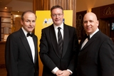 Micheál Martin TD, Minister for Foreign Affairs; Michael Carey, chairman of the board, Marketing Institute of Ireland; and Tom Trainor, chief executive, Marketing Institute of Ireland