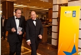 Michéal Martin, TD, Minister for Foreign Affairs being greeted on his arrival by Tom Trainor, Chief Executive, The Marketing Institute of Ireland