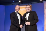 Russell Keating, Sony Ericsson, sponsor of the International Marketing Award, with award winner, John Jordan, Irish Dairy Board