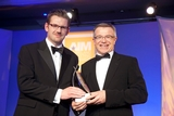 Brian McCarthy, UTV Radio Solutions, sponsor of the Sponsorship Management  Award, with award winner, Philip Mc Gauran, Meteor