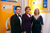 Geoff Lyons, Independent Newspapers; President Mary McAleese; Karen Preston, Independent Newspapers
