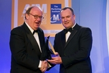 Paul O'Sullivan, DIT, presents the New Product  New Market Award to Sean Quirke, McDonalds Ireland