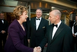 President Mary McAleese greeted by John Clifton, Burlington Hotel