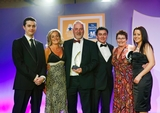 Robert Jordan, Glanbia Consumer Foods (sponsor of the Corporate Social Responsibility Award) with award winners Louise Oppermann; Liam Ryan; Derek Shears; Diane Ryan and Michelle Duff, S
