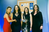 Ciara Rafferty, Mintel Ireland (sponsor of the Market Research Award) with award winners Patricia Ryan; Sylwia Rusak and Amie Peters, An Post