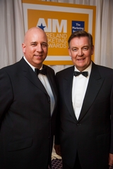 Tom Trainor, chief executive, Marketing Institute of Ireland with Bryan Dobson, Master of Ceremonies, 2012 All Ireland Marketing Awards