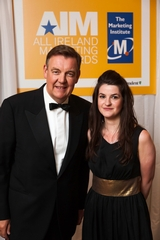 Bryan Dobson Master of Ceremonies, 2012 All Ireland Marketing Awards with Sorcha Nic Eochagain, Journeyman Productions