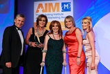 Geraldine O'Leary, RTÉ Media Sales (sponsor of the Sponsorship Management Award) with award winners,  Electric Ireland