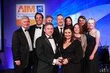 Peter Smyth, Newstalk (sponsor of the Advertising Campaign Award), with award winners, Liberty Insurance