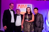 Tom Kinsella, AIB (sponsor of the Small Business Marketing Award), with award winners, Teebusters