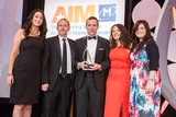 Aine Osborne, Carat (sponsor of the Digital Marketing Campaign Award), with award winners,  AIB