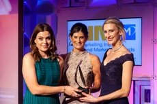 Niamh O'Driscoll, Virgin Media , sponsor of the Corporate Social Responsibility Award, with award winners,  Lidl Ireland