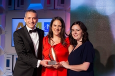Petre Sandru, Coca-Cola ,sponsor of the Sponsorship Management Award, with award winners, Bord Gáis Energy