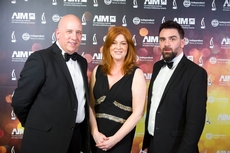 Tom Trainor, The Marketing Institute; Blathanid Ní Chofaigh and Geoiróid Trimble, Foras na Gaeilge  - Copy