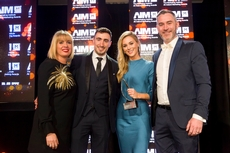 Catherine Casserly, Irish Distillers Pernod Ricard , sponsor of the Online Channel Marketing Award, with award winners, Littlewoods Ireland