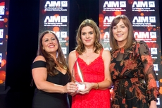 Niamh O'Driscoll, Virgin Media ,sponsor of the Sponsorship Management Award, with award winners, Aldi Ireland