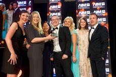 Sian Gray, Lidl Ireland ,sponsor of the International Marketing Award, with award winners, Diageo