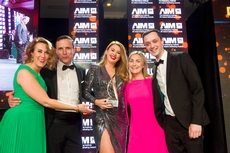 Lynn Brennan, Carat, sponsor of the Digital Marketing Campaign Award, with award winners, AIB