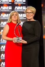 Karen Preston, Independent News & Media ,sponsor of the 2019 All Ireland Marketing Champion Award, with award recipient, Maggie Timoney, President and CEO, Heineken USA